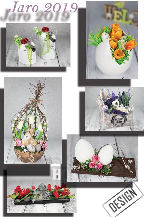 Moderní designové dekorace a bytové doplňky z trvanlivých květin. 670a9fe31cf